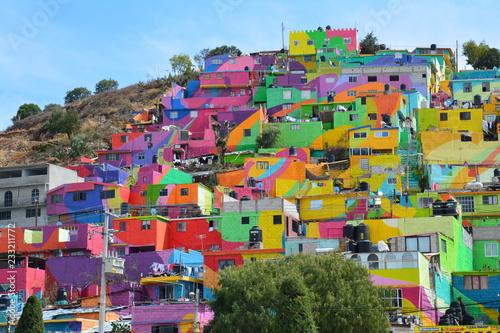 Obraz na plátne Mural Street Art coloré Pachuca Hidalgo Mexique