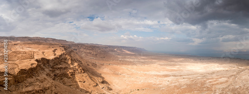 Carta da parati Masada in Israel and the judean desert