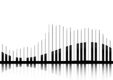 Vector : Piano Keyboard Equlizer Concept On White Background