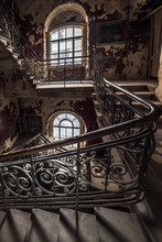 Decaying Staircase In An Aband...