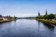 River Ness Runs Through Inverness, Scotland