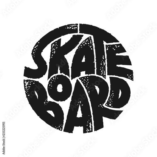Fotomural Skateboard typography graphics