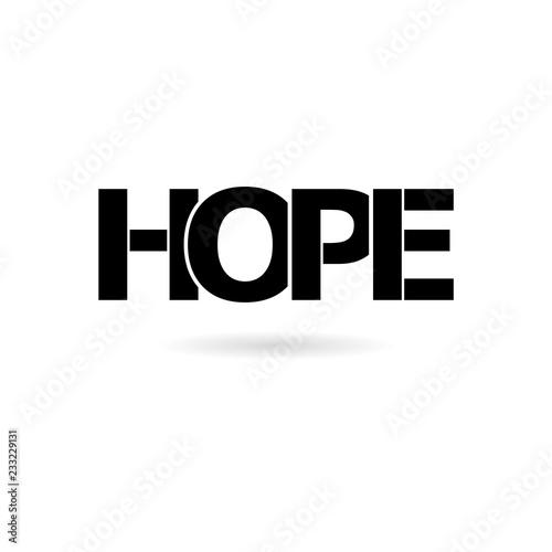 Photo  Black HOPE icon or logo