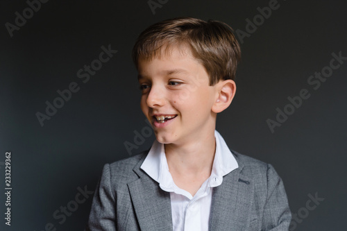 Portrait of smartly dressed tween boy