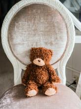 Teddy Bear On Chair In Room