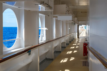 Promenade Deck Of A Cruise Shi...
