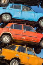 Close-up Cars On Dump