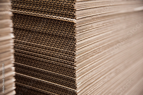 Beautiful background with micro corrugated cardboard Fotobehang