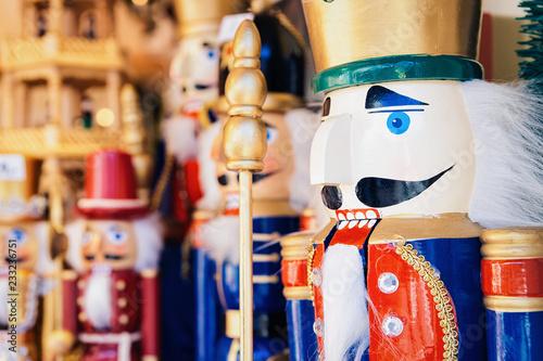 Foto op Plexiglas Kerstmis Nutcrackers at Christmas Market at Alexanderplatz in Germany Winter Berlin