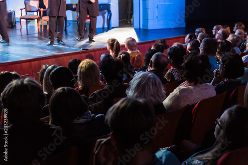 Fotografia Spectators at a theater performance, in a cinema or at a concert