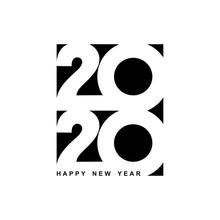 Happy New Year 2020 Logo Text ...