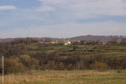 panorama of rural landscape