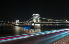Chain Bridge On Danube River I...