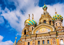 Church Savior On Spilled Blood In St Petersburg Russia