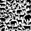 animals background, icons
