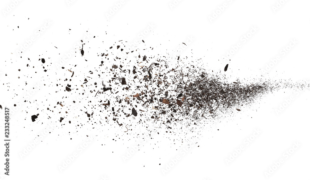 Fototapety, obrazy: pile dust dirt isolated on white background, with clipping path