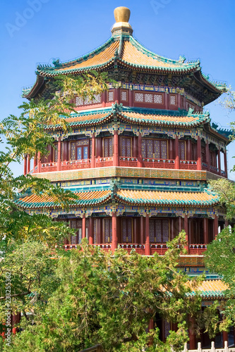 Beautiful Imperial Summer Palace in Beijing, China.