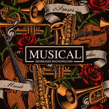Musical Seamless Background In...
