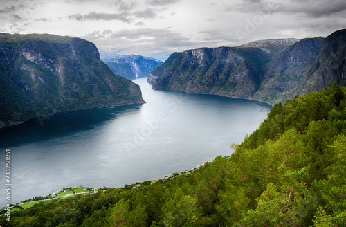 Staande foto Bleke violet Beautiful landscape.Travel in Norway