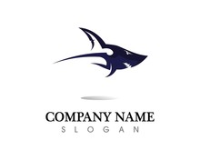 Shark Logo Template And Design Vector Fish Wild Sea Animal