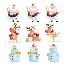 Cute Cartoon Christmas Charact...