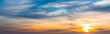canvas print picture - Blue and orange sky at sunset in Sardinia