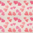 Seamless Valentine's day watercolor hearts background