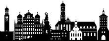 Augsburg Skyline Detailliert /...