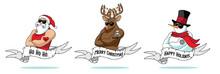 Cartoon Christmas Tattoo Colle...