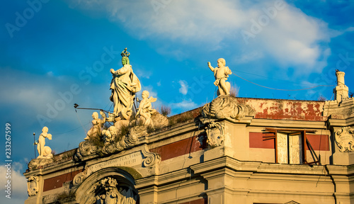 Poster Monument Religious statue Naples Italy