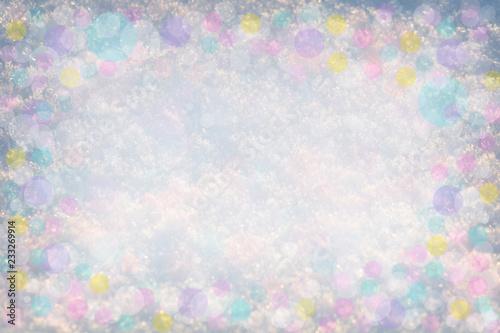 Fotografia  Shiny snow abstract bokeh blurred background