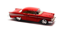 Vintage Red Retro Car Toy Isolated