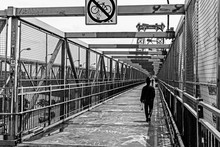 People Crossing Williamsburg Bridge