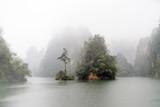 Wyspa w Baofeng jeziornym Zhangjiajie, Chiny - 233274534