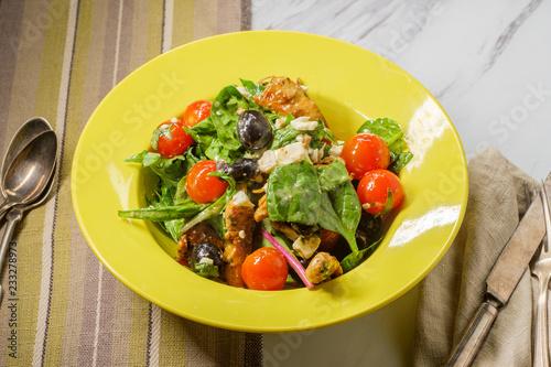 Fotografie, Obraz  Fresh Greek Salad Chicken