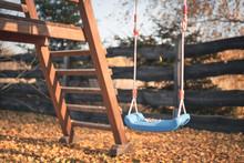 Swing In The Autumn Scenery