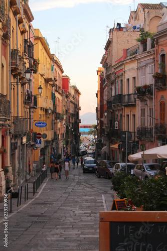 Fototapety, obrazy: Street to harbour in Cagilari