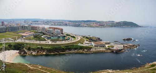Vistas aéreas de La Coruña, desde la Torre de Hércules en el verano de 2018.
