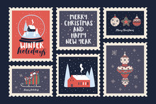Set Of Postage Stamps Dedicate...