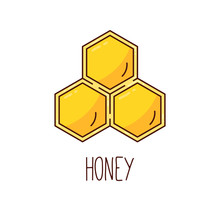 Honeycomb Colorful Icon Vector