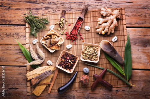 La pose en embrasure Magasin alimentation Alternativmedizin - Traditionelle Chinesische Medizin