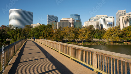 Downtown Alexandria Virginia Buildings Reflected in the Potomac River Wallpaper Mural