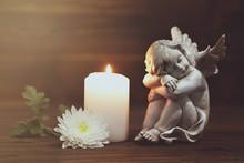 Angel, White Flower And Burnin...