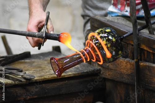 Fototapeta Murano - Lavorazione artistica del vetro
