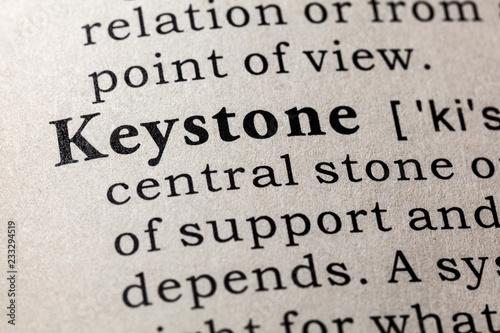 Valokuva definition of keystone
