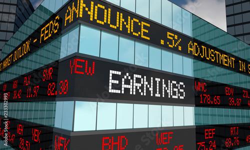 Fototapeta Earnings Stock Market Reporting Company Profits 3d Illustration obraz