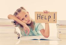 Stressed School Girl Feeling F...