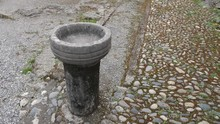 Old Stone Vessel Or Font For H...