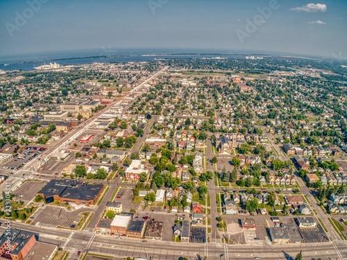 Fotografie, Obraz  City of Superior on the Shores of Lake Superior