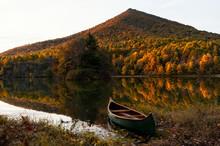 Canoe Below Sharp Top At Sunrise;  Blue Ridge Parkway;  Virginia